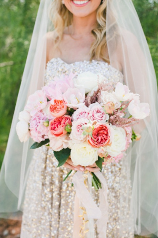 Picture Of most gorgeous garden rose bridal bouquets  5