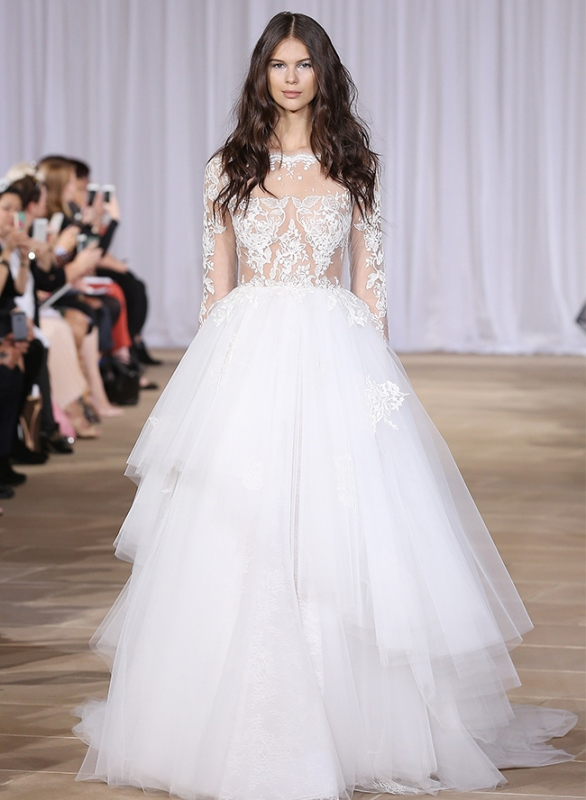 Picture Of trendy dresses bridal fashion week 2016 that took our breath away  1