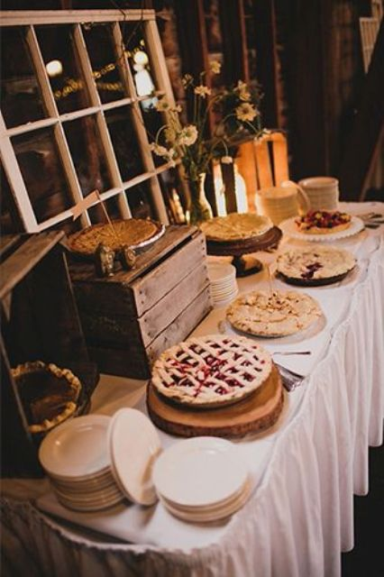 Picture Of Cozy Pie Bar Ideas For Your Wedding 10