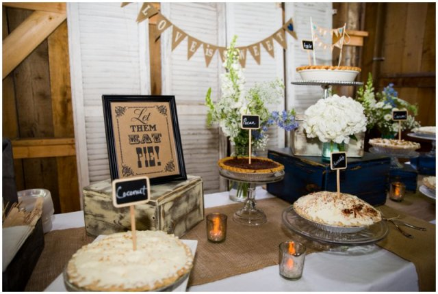 Picture Of Cozy Pie Bar Ideas For Your Wedding 11