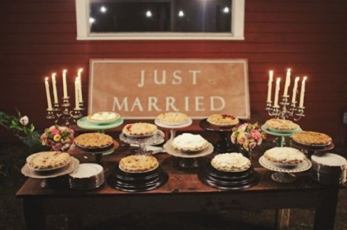 22 Cozy Pie Bar Ideas For Your Wedding Weddingomania