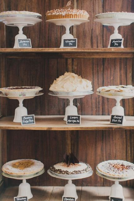 Picture Of Cozy Pie Bar Ideas For Your Wedding 5
