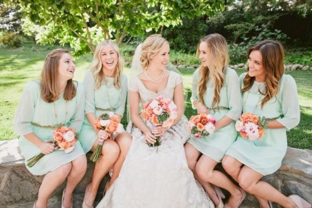 Elegant Long Sleeve Dresses For Bridesmaids