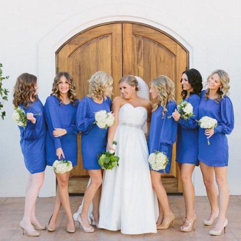Picture Of Elegant Long Sleeve Dresses For Bridesmaids 11