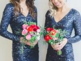 22 Elegant Long Sleeve Dresses For Bridesmaids12