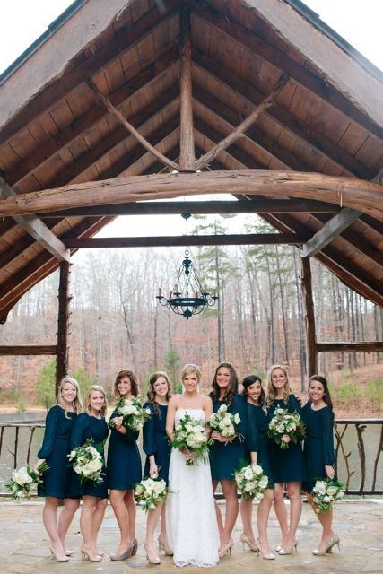 Picture Of Elegant Long Sleeve Dresses For Bridesmaids 19