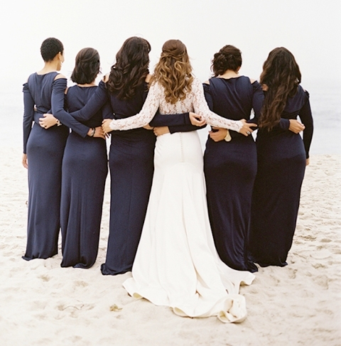 The Hottest 2015 Trend: 22 Elegant Long-Sleeved Dresses For Bridesmaids