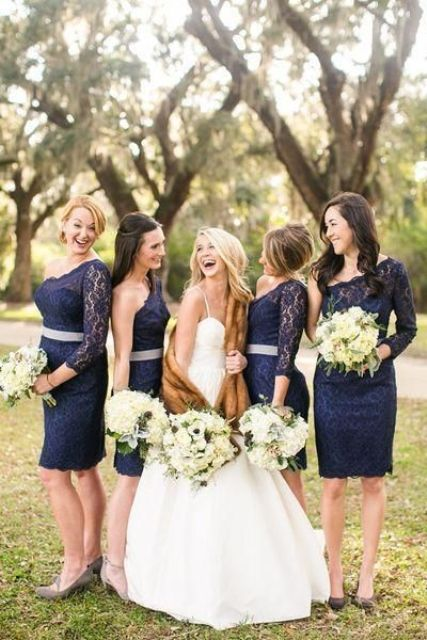 Picture Of Elegant Long Sleeve Dresses For Bridesmaids 4
