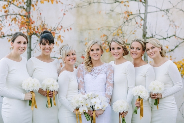 Picture Of Elegant Long Sleeve Dresses For Bridesmaids 5