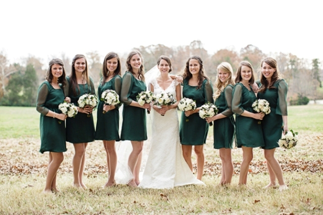 Picture Of Elegant Long Sleeve Dresses For Bridesmaids 8