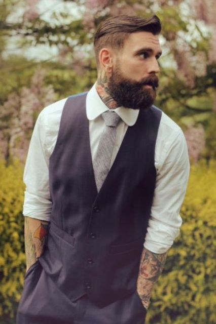 Picture Of Excellent Groom Looks With Tattoos 5