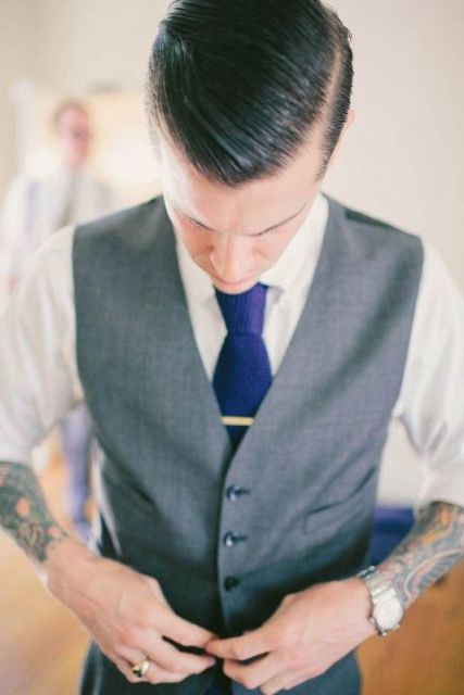Picture Of Excellent Groom Looks With Tattoos 8