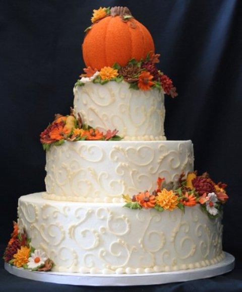 Fall Buttercream Wedding Cake Designs