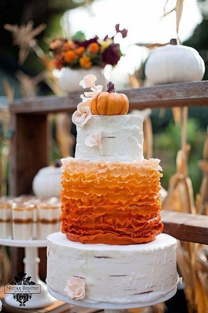 Fun Pumpkin Wedding Cake Ideas For Fall