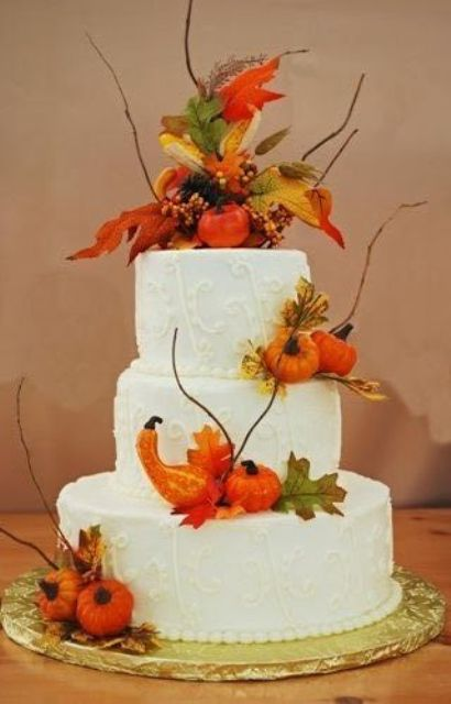 22 Fun Pumpkin Wedding Cake Ideas For Fall Weddingomania