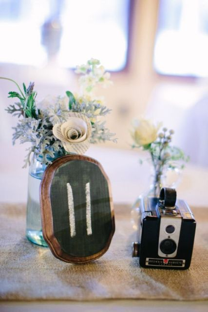 Vintage Camera Wedding Centerpieces