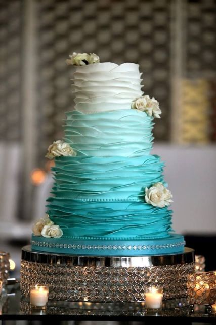 Picture Of Tiffany Blue Wedding Cake Ideas 10
