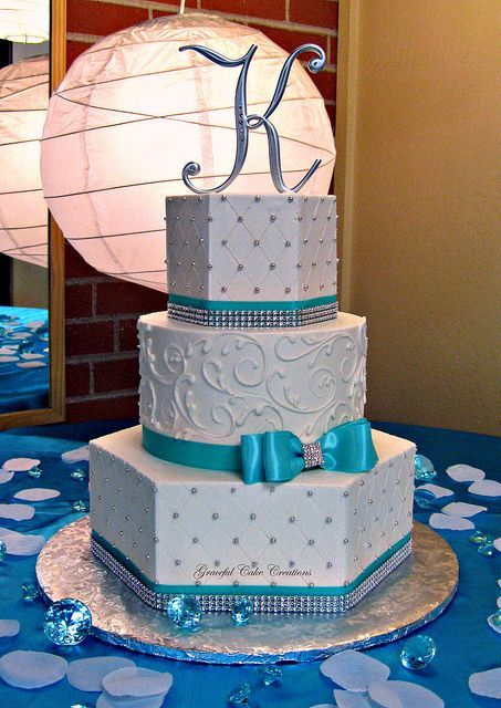 Tiffany Blue Cake Design : Picture Of Tiffany Blue Wedding Cake Ideas 16