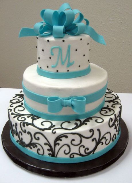 Picture Of Tiffany Blue Wedding Cake Ideas 17