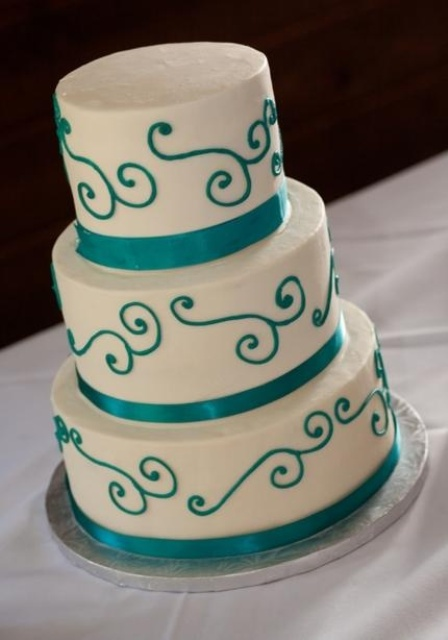 23 Elegant Tiffany Blue Wedding Cake Ideas - Weddingomania