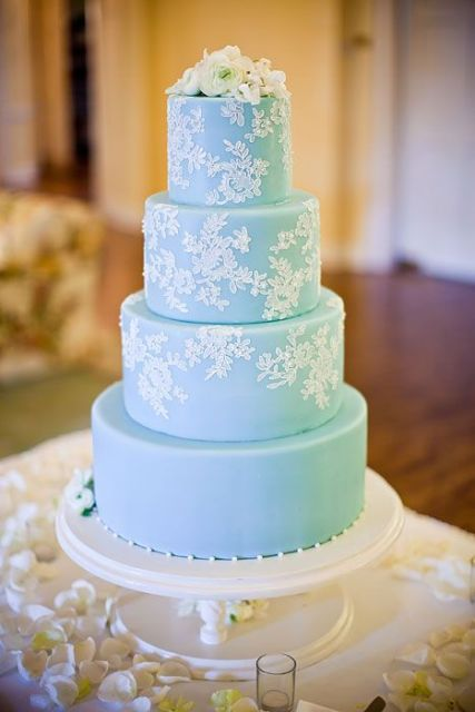 Picture Of Tiffany Blue Wedding Cake Ideas 5