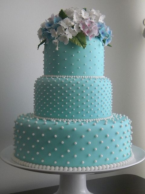 Picture Of Tiffany Blue Wedding Cake Ideas 9