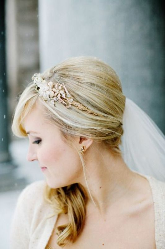 Picture Of breathtaking bridal headbands that we love  4