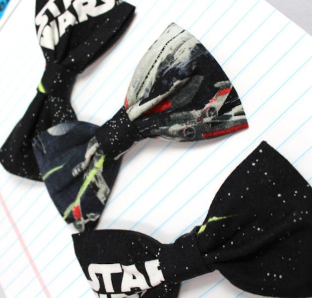 Star Wars themed bow ties are great for both grooms and groomsmen and look awesome