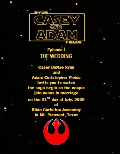 a fun and bold Star Wars wedding invitation is a lovely and cool idea for your wedding