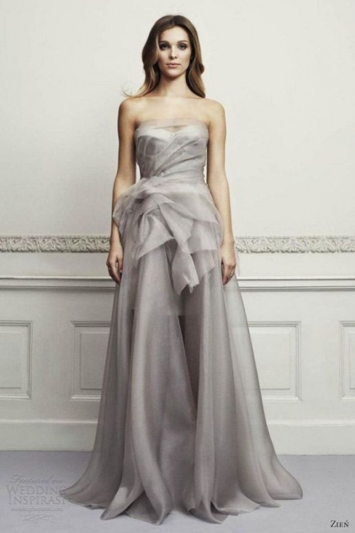 grey wedding dress 23 fabulous colored wedding dresses ideas to get inspired 4624