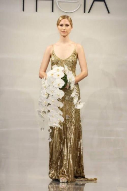 Gold Dress Wedding 51 Vintage Fabulous Gold Wedding Dresses