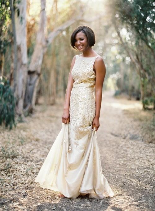 Gold Dress Wedding 48 Fancy Fabulous Gold Wedding Dresses