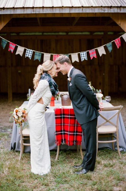 Picture Of fancy tartan ideas for your winter wedding  11