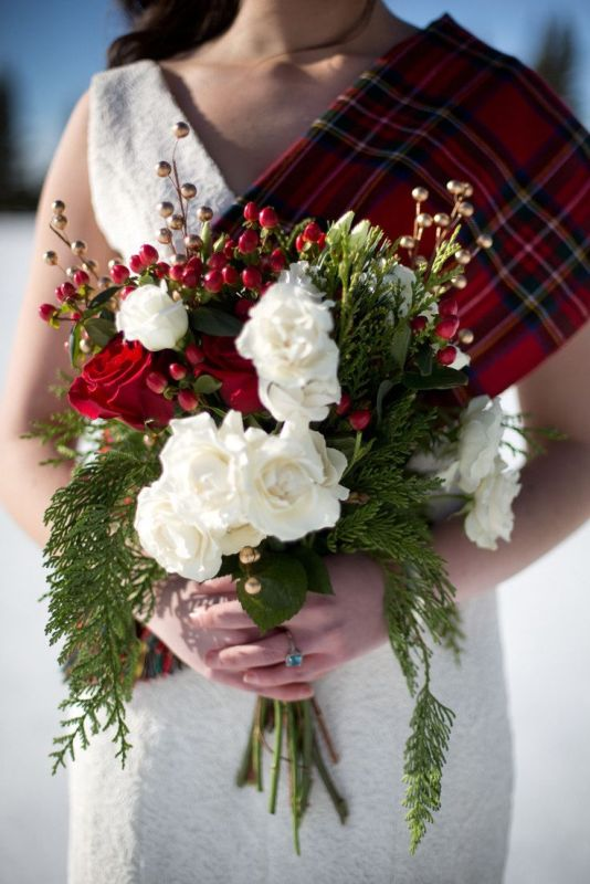 Picture Of fancy tartan ideas for your winter wedding  13