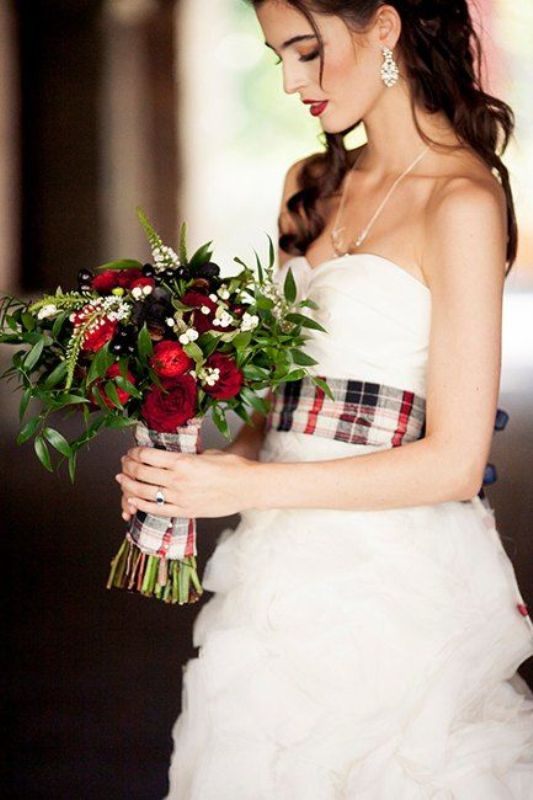 Picture Of fancy tartan ideas for your winter wedding  16
