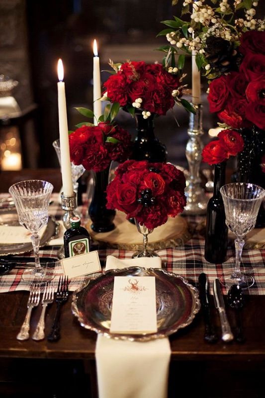 Picture Of fancy tartan ideas for your winter wedding  17