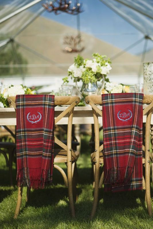 Picture Of fancy tartan ideas for your winter wedding  2
