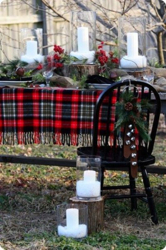 Picture Of fancy tartan ideas for your winter wedding  5