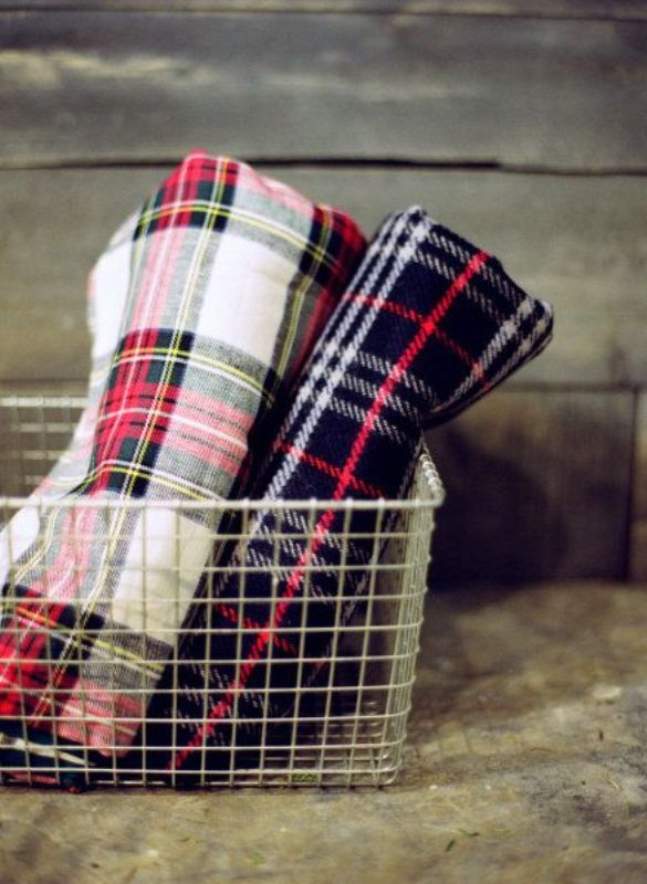 Picture Of fancy tartan ideas for your winter wedding  9