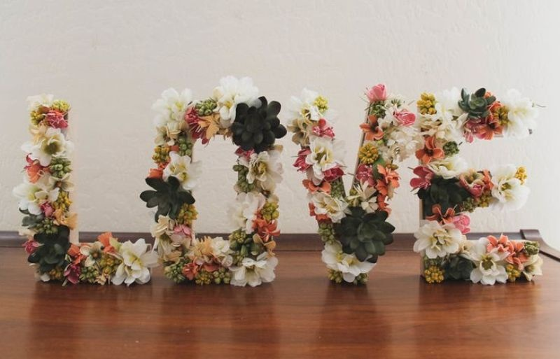 Flower Letters Wedding Flowers Healthy