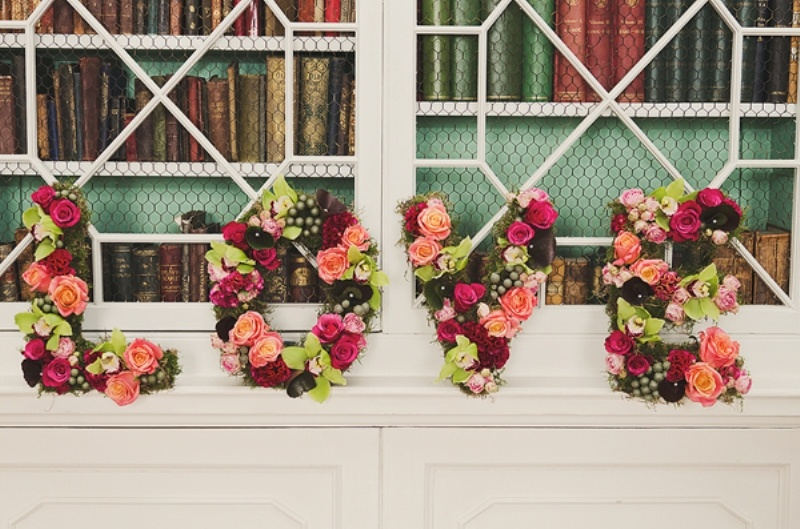 picture of flower letters ideas for your wedding decor 17