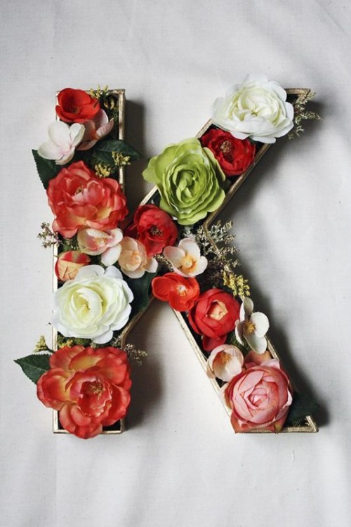 31 Flower Letters Ideas For Your Wedding Decor Weddingomania