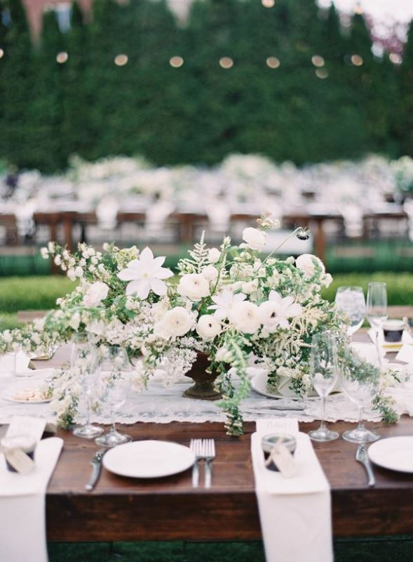 Picture Of Romantic Organic Inspired White And Green