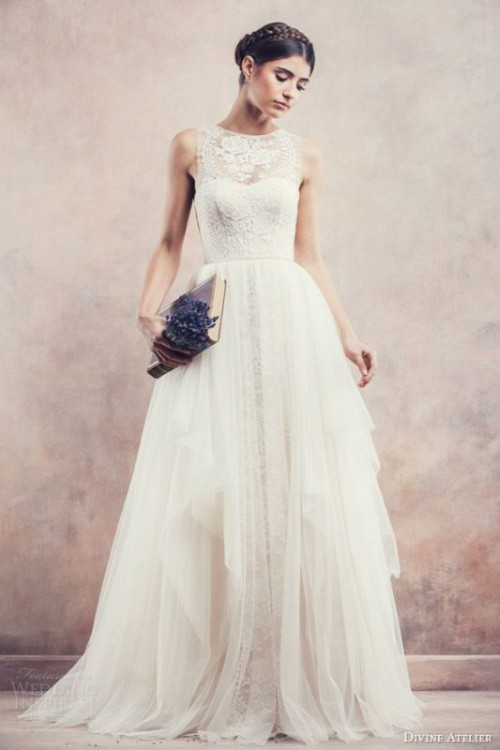 23 Stunning High Neckline Wedding Dresses