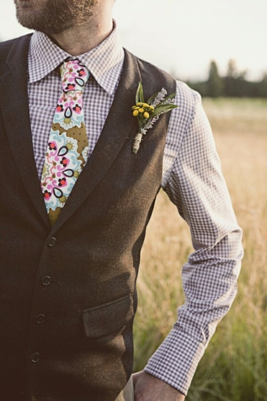 Picture Of Stylish Groom Suits With Mismatched Prints