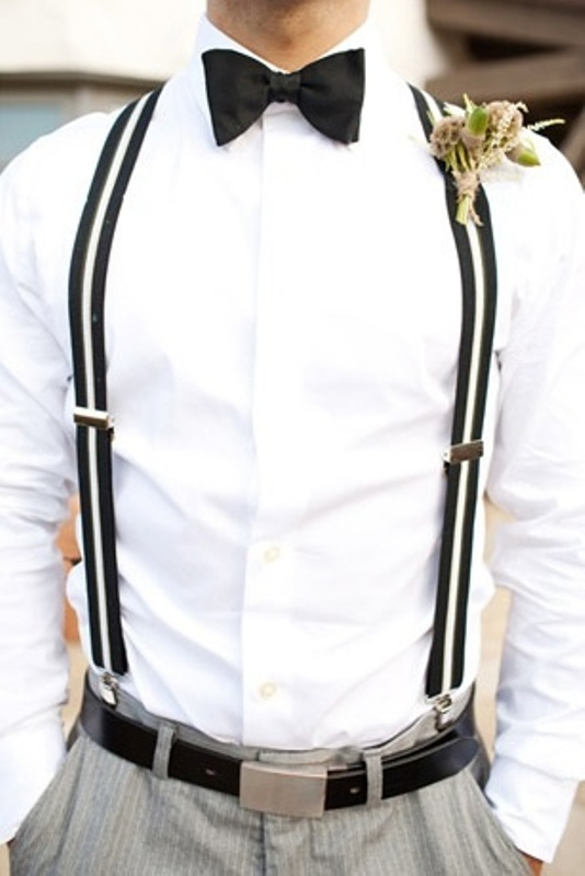Stylish Groom's Outfit Ideas With Suspenders