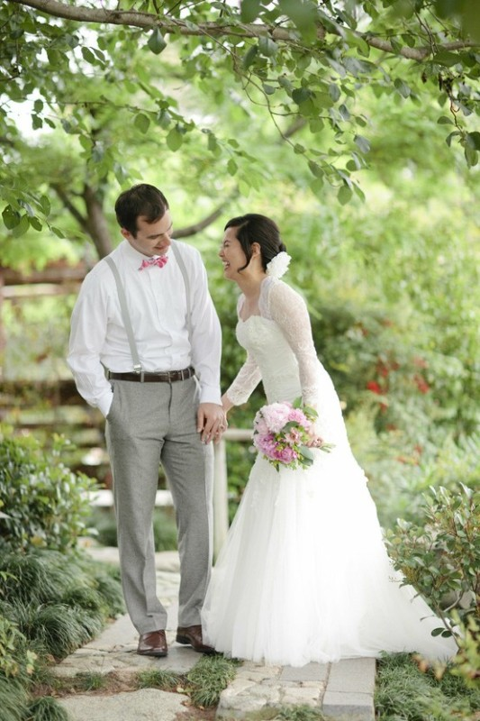 Picture Of Stylish Groom's Outfit Ideas With Suspenders