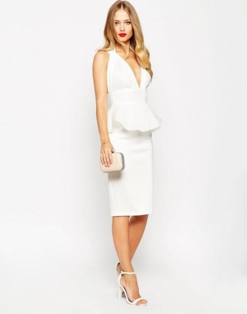 платье миди прическа