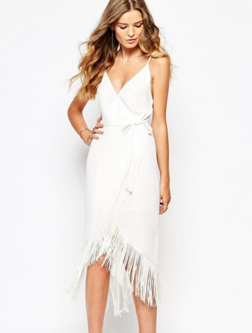 White Cocktail Dresses For All Wedding Related Parties