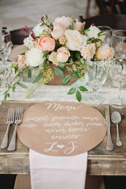 Ways To Use Kraft Paper In Your Wedding